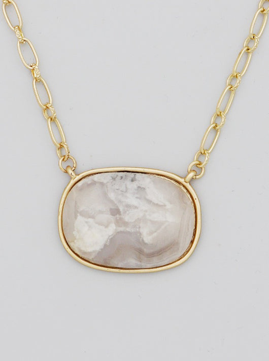 Cassia Necklace + Semi-Precious