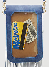 Festival Fringe Cell Phone Bag + Denim Blue - Bohemian Trading Post
