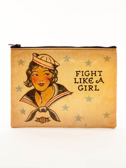 Fight Like a Girl Zipper Pouch - Bohemian Trading Post