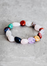 Tumbled Mixed Gemstone Bracelet - Bohemian Trading Post
