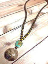 Luna Shell Necklace - Bohemian Trading Post
