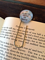 """I'm Not Addicted To Reading, I'm Committed"" Bookmark - Bohemian Trading Post"