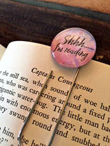 """Shhh.....I'm Reading"" Bookmark - Bohemian Trading Post"