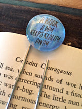 """A Book A Day Keeps Reality Away"" Bookmark - Bohemian Trading Post"
