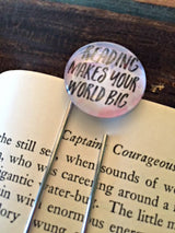 """Reading Makes Your World Big"" Bookmark - Bohemian Trading Post"