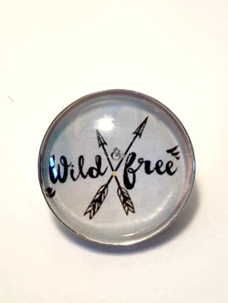 Wild & Free Brooch / Pin - Bohemian Trading Post