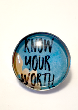 Know Your Worth Brooch / Pin - Bohemian Trading Post