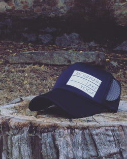 Mountain | Lake | Yoga Trucker Hat - Bohemian Trading Post