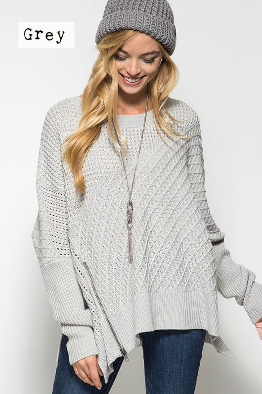 Sadie Oversized Sweater - Bohemian Trading Post