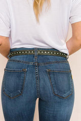 Studded Leather Belt - Bohemian Trading Post