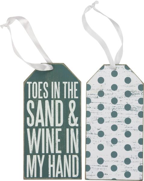 Toes in the Sand & Wine in My Hand - Bottle Tag - Bohemian Trading Post