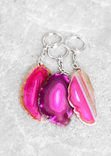 Agate Slice Keychain - Bohemian Trading Post