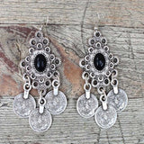 Ethnic Coin Earrings - Bohemian Trading Post
