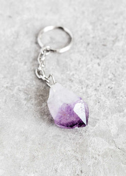 Amethyst Point Keychain - Bohemian Trading Post