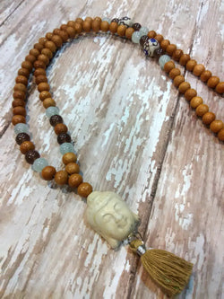 Serenity Mala Bead Necklace - Bohemian Trading Post