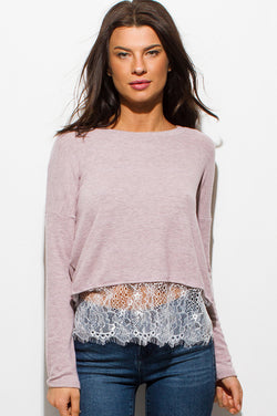 Dusty Blush Boho Top