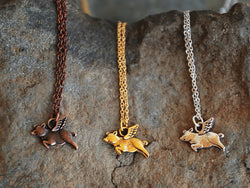 When Pigs Fly Necklace - Bohemian Trading Post