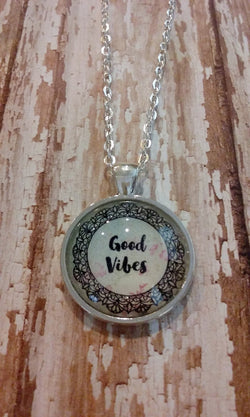 Good Vibes Pendant Necklace - Bohemian Trading Post