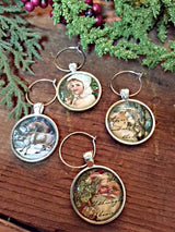 Christmas in the Forest Wine Glass Charms - Set of 4 - Bohemian Trading Post