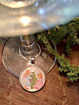 Christmas Angels Wine Glass Charms - Set of 4 - Bohemian Trading Post