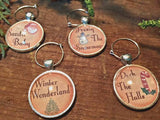 Christmas Song Wine Glass Charms - Set of 4 - Bohemian Trading Post