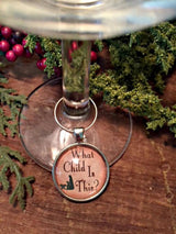 Traditional Christmas Song Wine Glass Charms - Set of 4 - Bohemian Trading Post