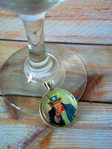 Vintage Style 4th of July / Patriotic Wine Glass Charms - Set of 4 - Bohemian Trading Post