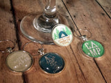 Camping Wine Glass Charms - Set of 4 - Bohemian Trading Post
