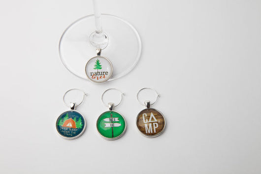 Nature Lover Wine Glass Charms - Set of 4 - Bohemian Trading Post
