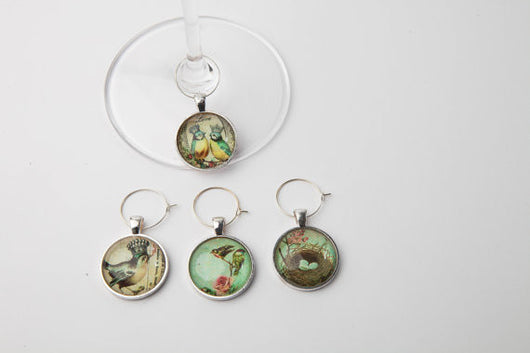 Spring Royalty Wine Glass Charms - Set of 4 - Bohemian Trading Post