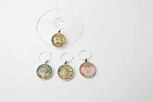 BFF Wine Glass Charms - Set of 4