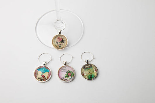 Whimsical Wine Glass Charms - Set of 4 - Bohemian Trading Post