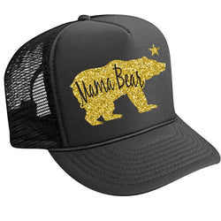 Mama Bear Trucker Hat + Glitter - Bohemian Trading Post