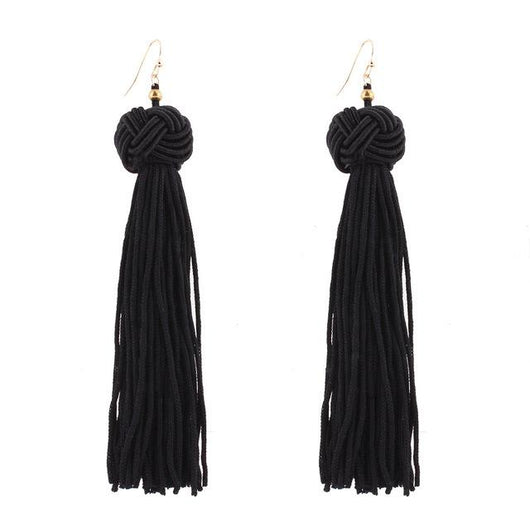 Tassel Drop Earrings - Bohemian Trading Post