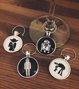 Star Wars I Wine Glass Charms + Set of 4 - Bohemian Trading Post