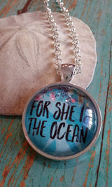 For She is the Ocean Pendant Necklace - Bohemian Trading Post