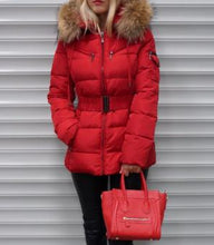 Attentif Paris Red Quilted Parka Jacket