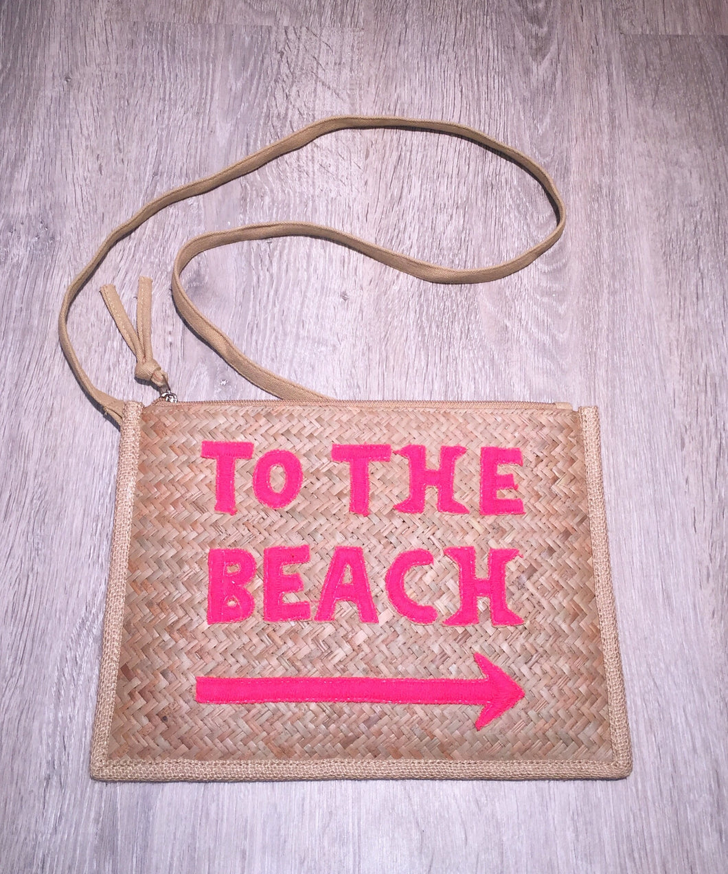 Pink 'To The Beach' Bag