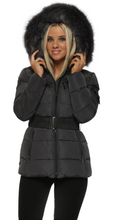 Attentif Paris Dark Grey Quilted Parka Jacket