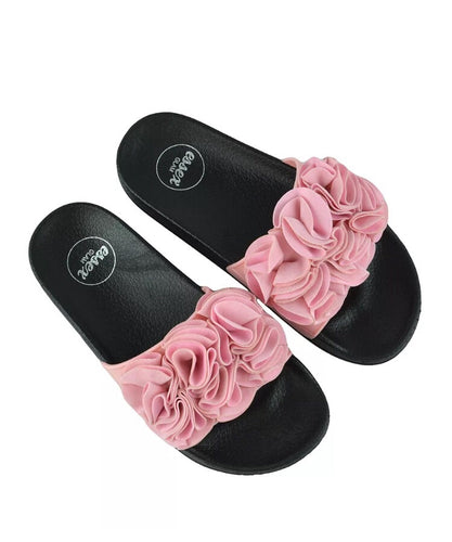 Pink Ruffle Sliders
