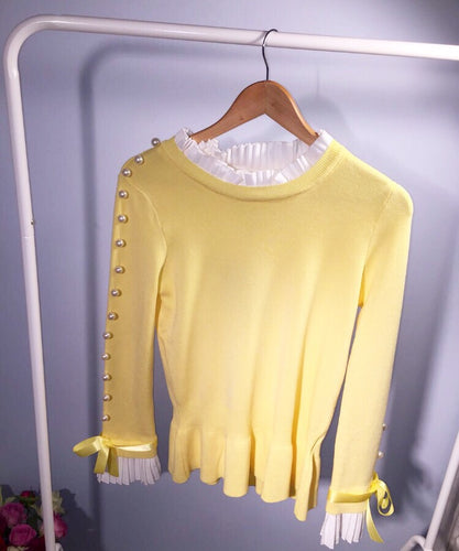 Louisa Pearl Lemon Jumper