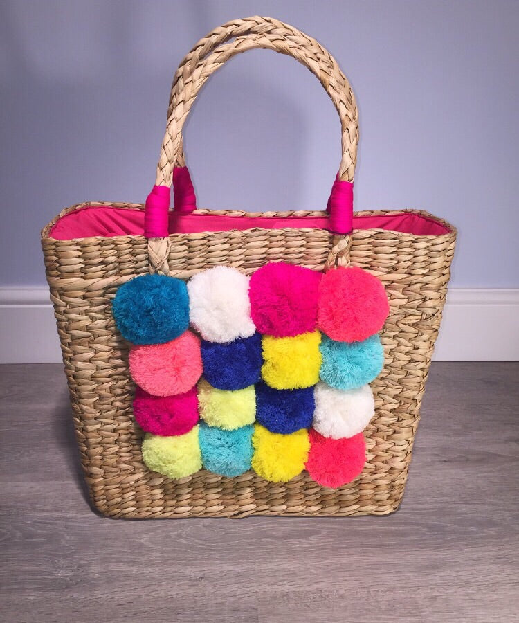 Multicoloured Pom Pom Bag