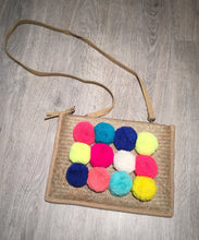 Multicoloured Pom Pom Cross body / Clutch Bag