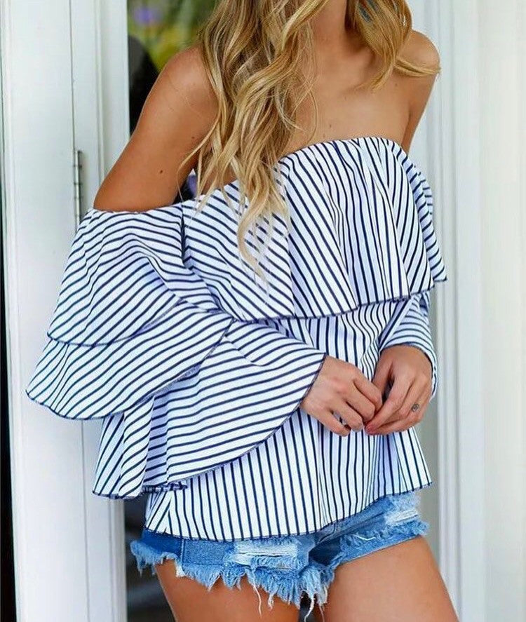 Striped Daisy Shirt