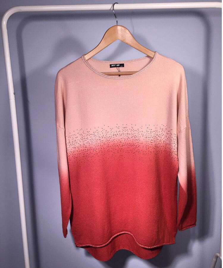 Blush Ombré Jumper