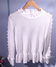 Louisa Pearl White Jumper