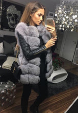 Light Grey Medium Fox Fur Gilet
