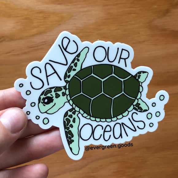 Save Our Oceans Vinyl Sticker
