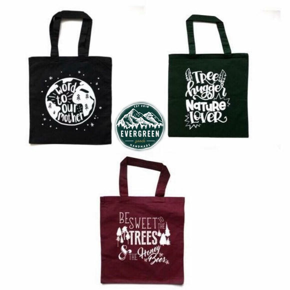 Nature Lover's Reusable Tote Bag Trio Pack