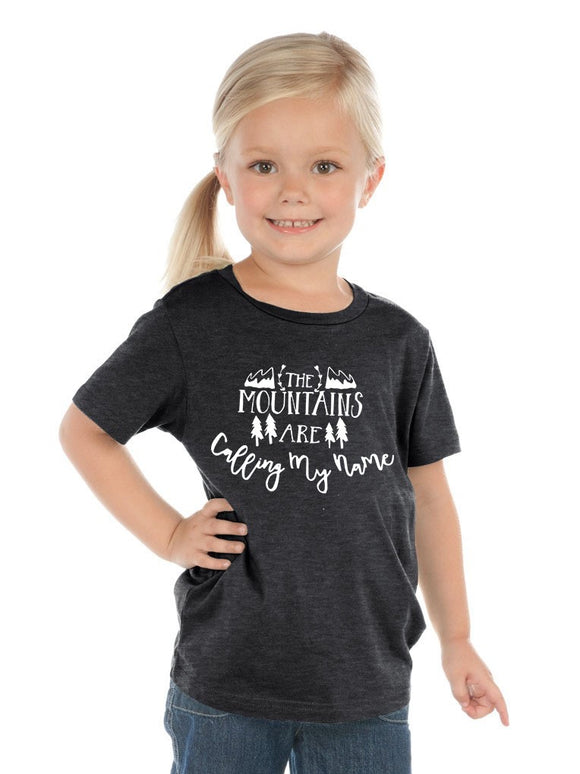 The Mountains are Calling my Name Kids Tee